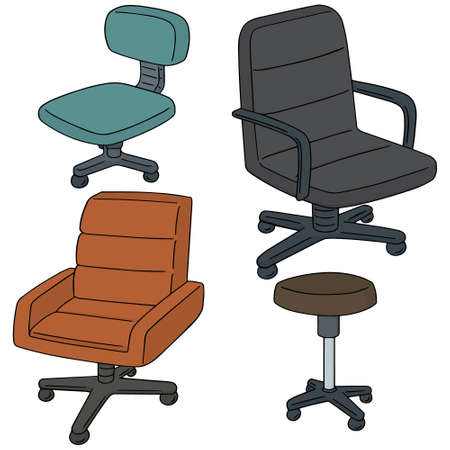 swivel chairs: vector set of chair