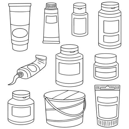 paintbucket: vector set of color container Illustration