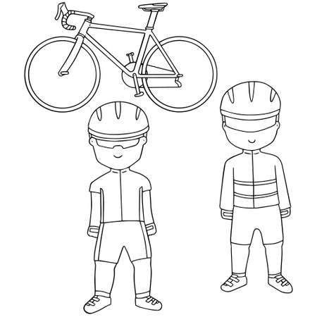bicycler: vector set of cyclist