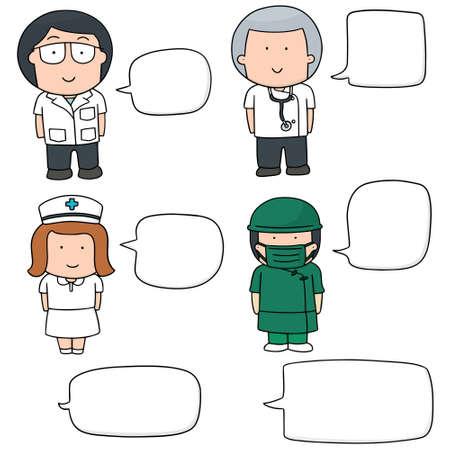 personal medico: vector conjunto de personal m�dico