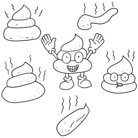 dung: vector set of poop
