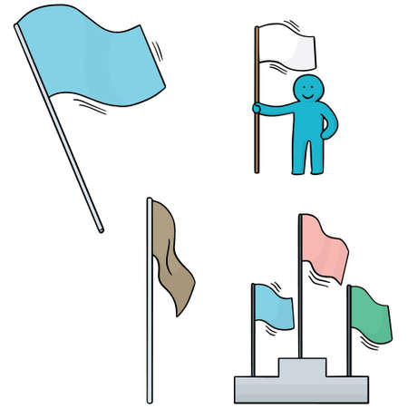 clipart wrinkles: vector set of flags Illustration