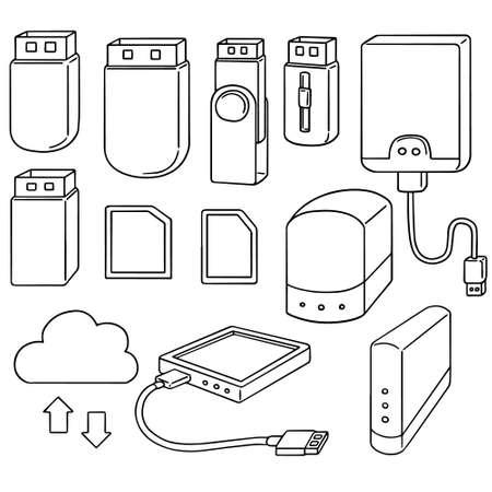 storage device: vector set of storage device