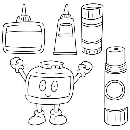 resistol: vector conjunto de pegamento Vectores