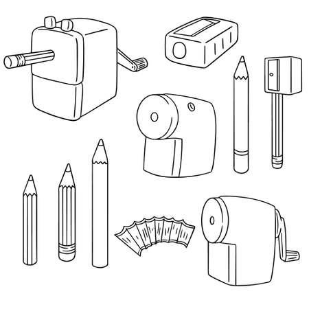 sharpening: vector set of pencil sharpener Illustration