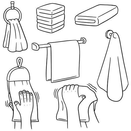 rags: vector set of hand towel