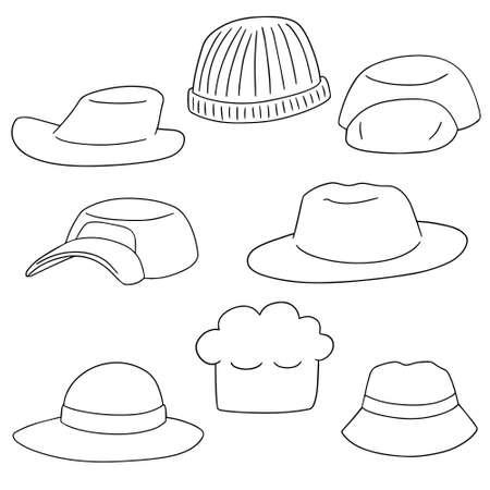 headgear: vector set of headgear Illustration