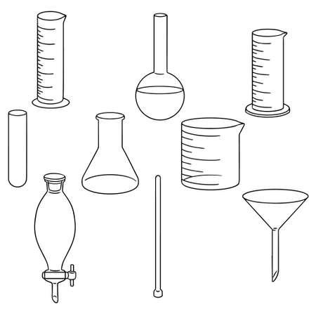 erlenmeyer: vector set of laboratory glassware