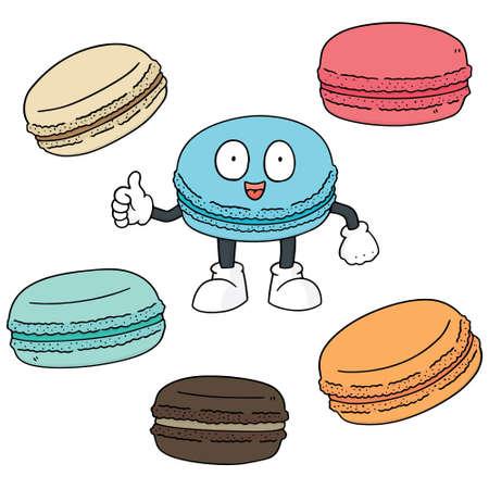 macaron: vector set of macaron