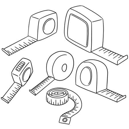 vector set of measuring tape Illustration
