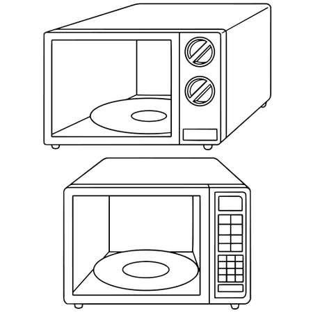 numpad: vector set of microwave oven