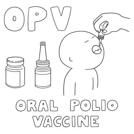 attenuated: vector set of oral polio vaccine