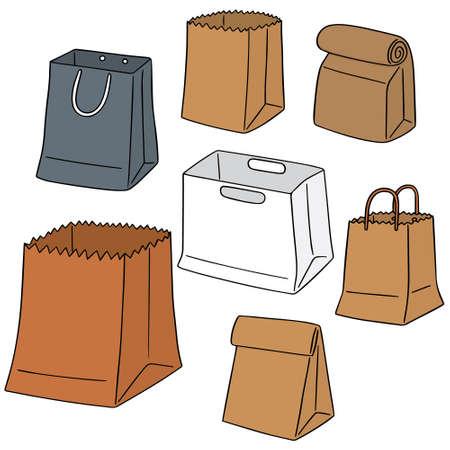 ensemble de vecteur de sac de papier