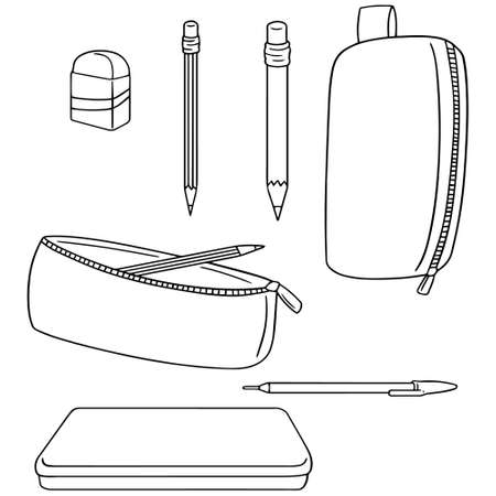 case: vector set of pencil case
