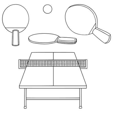 tabletennis: vector set of tabletennis