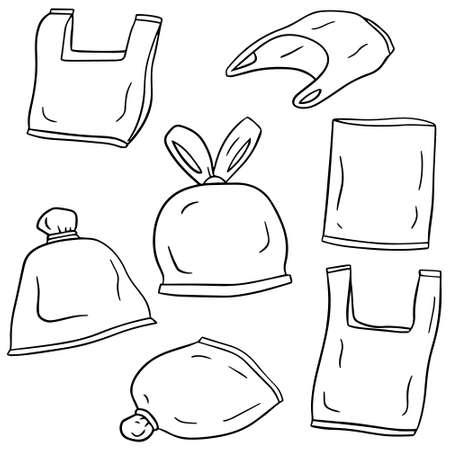 ensemble de vecteurs de sacs en plastique