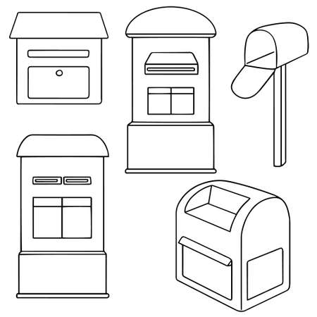 postbox: vector set of postbox Illustration
