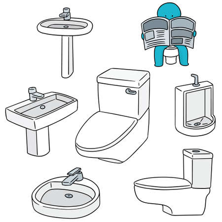 ware: vector set of sanitary ware Illustration