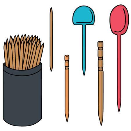 toothpick: vector set of toothpick
