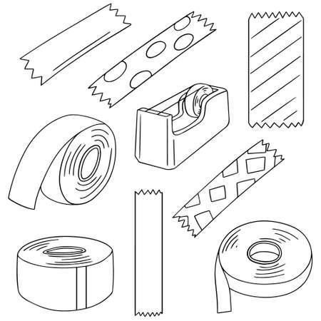 adhesive tape: vector set of adhesive tape Illustration