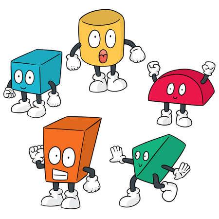 vector set of toy block cartoon