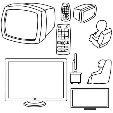 fullhd: vector set of television Illustration