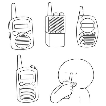 vector set of walkie talkie Illustration