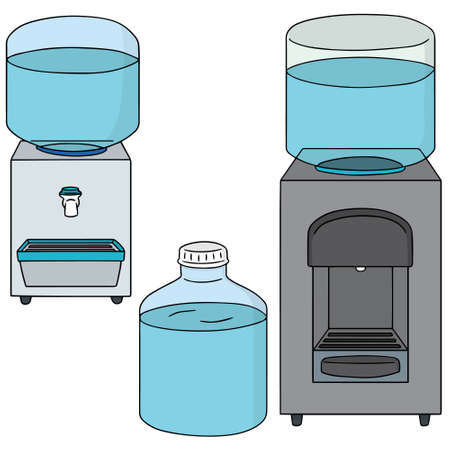 hydrate: vector set of water cooler