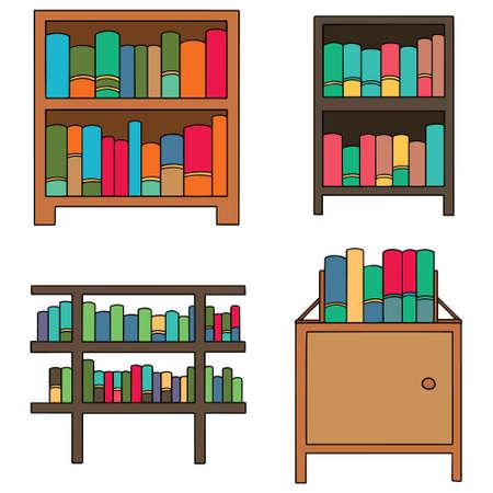 Vector Set Of Bookshelf Stock