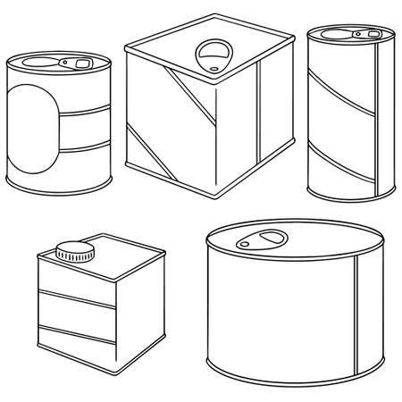 sweetened: vector set of can