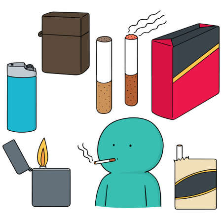 pernicious habit: vector set of cigarettes Illustration