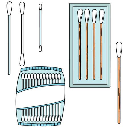 vector set of cotton swab