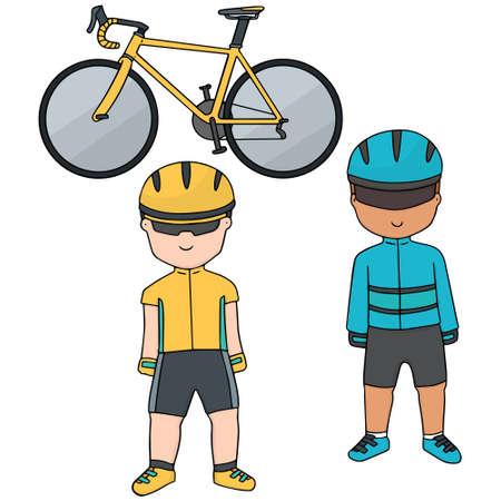 shifter: vector set of cyclist