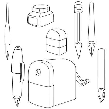 cartooning: vector set of drawing equipment Illustration