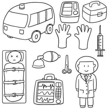 medical equipment: vector set of medical equipment