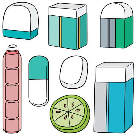 eraser: vector set of eraser