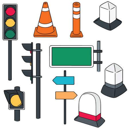 clipart street light: vector set of traffic icon