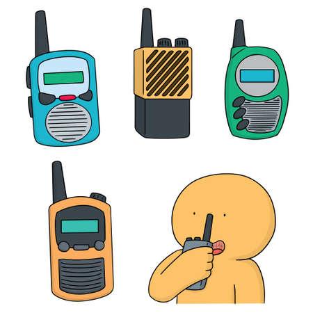 cellular repeater: vector set of walkie talkie Illustration