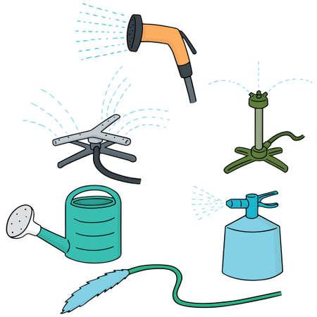 metal drawing: vector set of watering equipment Illustration
