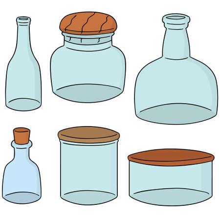 closed corks: vector set of bottle Illustration