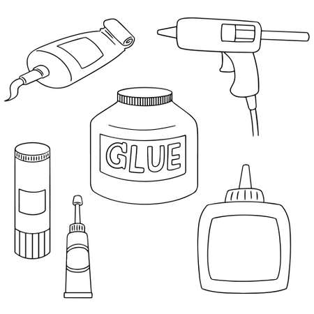 cling: vector set of glue