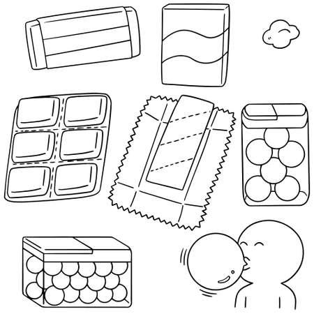 vector set of bubble gum Stock Illustratie