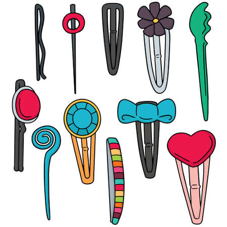 vector set of hairpin Stock Vector - 63210323