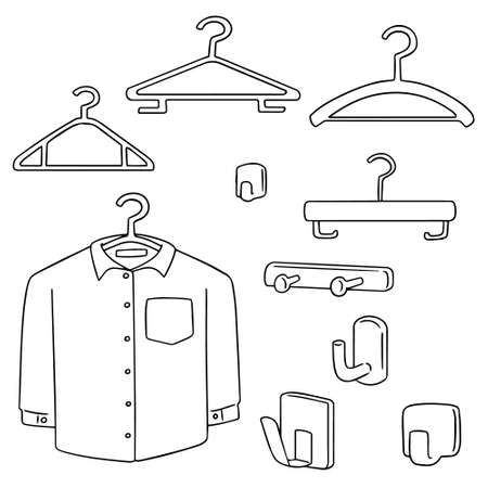 hangers: vector set of hangers