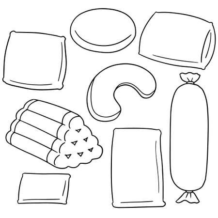 bolster: vector set of pillow