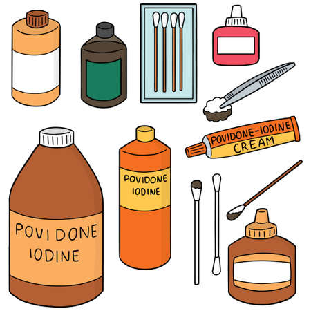 dressing: vector set of wound dressing set