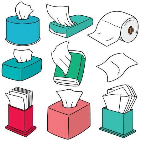 Ensemble de vecteur de papier de soie Banque d'images - 63210933