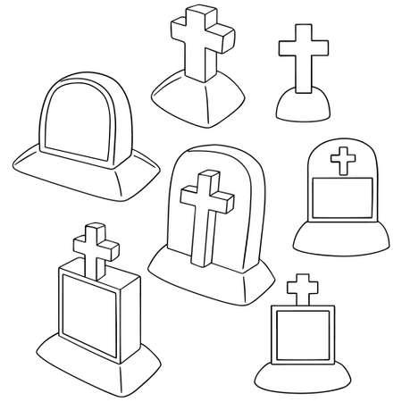 rite: vector set of tombstone