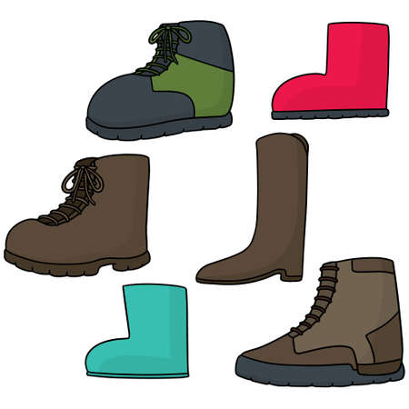 vector set of boot Illustration