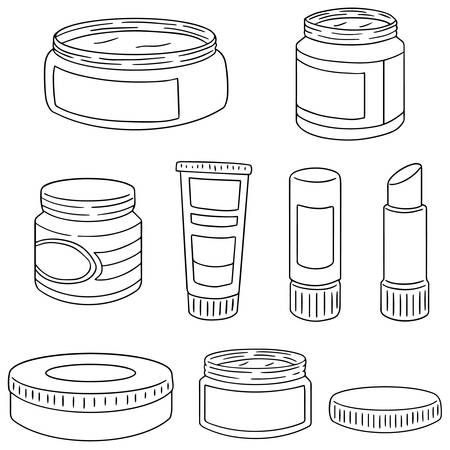 the topical: vector set of topical cosmetic and topical medicine